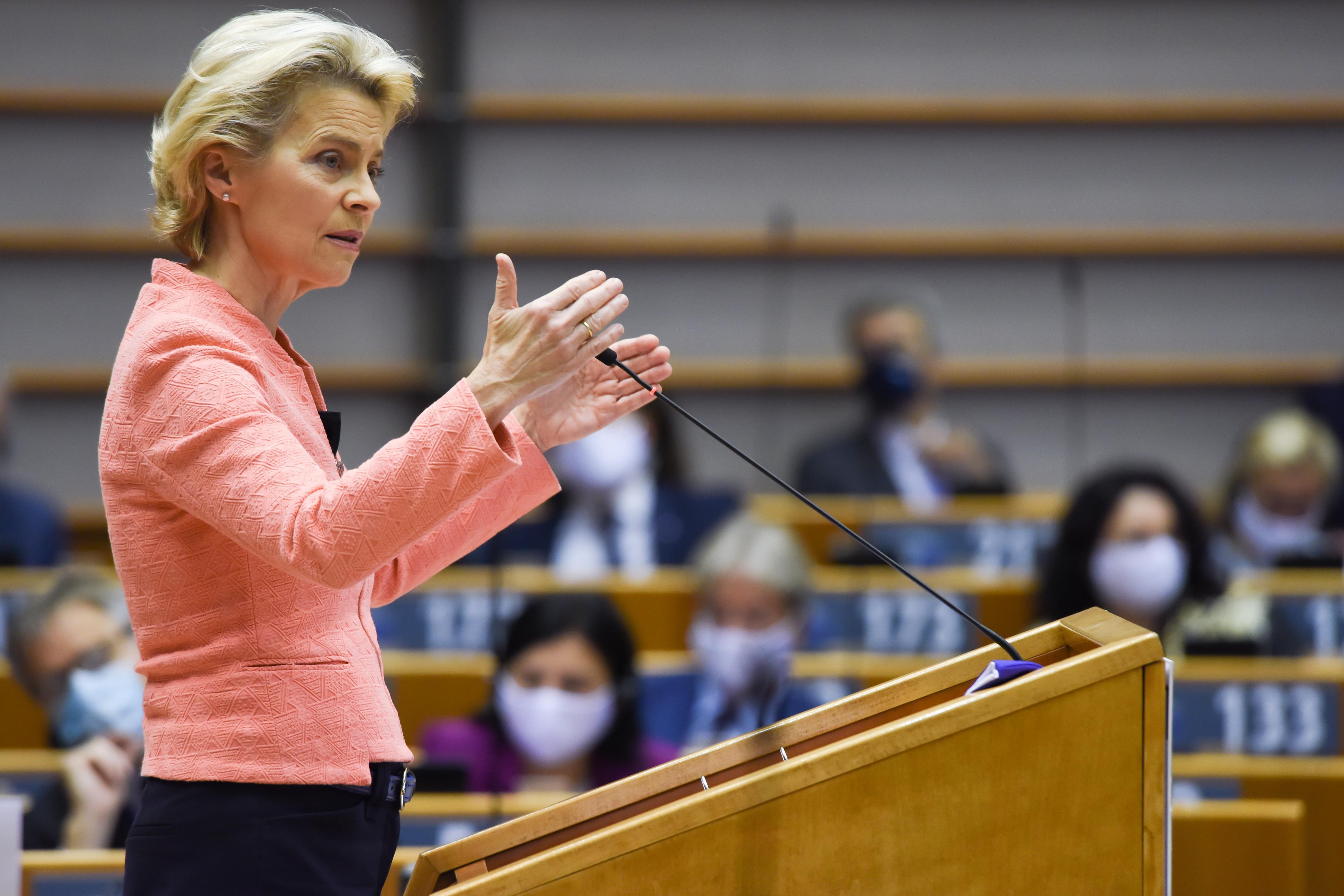 Komission puheenjohtaja Ursula von der Leyen 16. syyskuuta 2020. Kuva: Euroopan unioni 2020