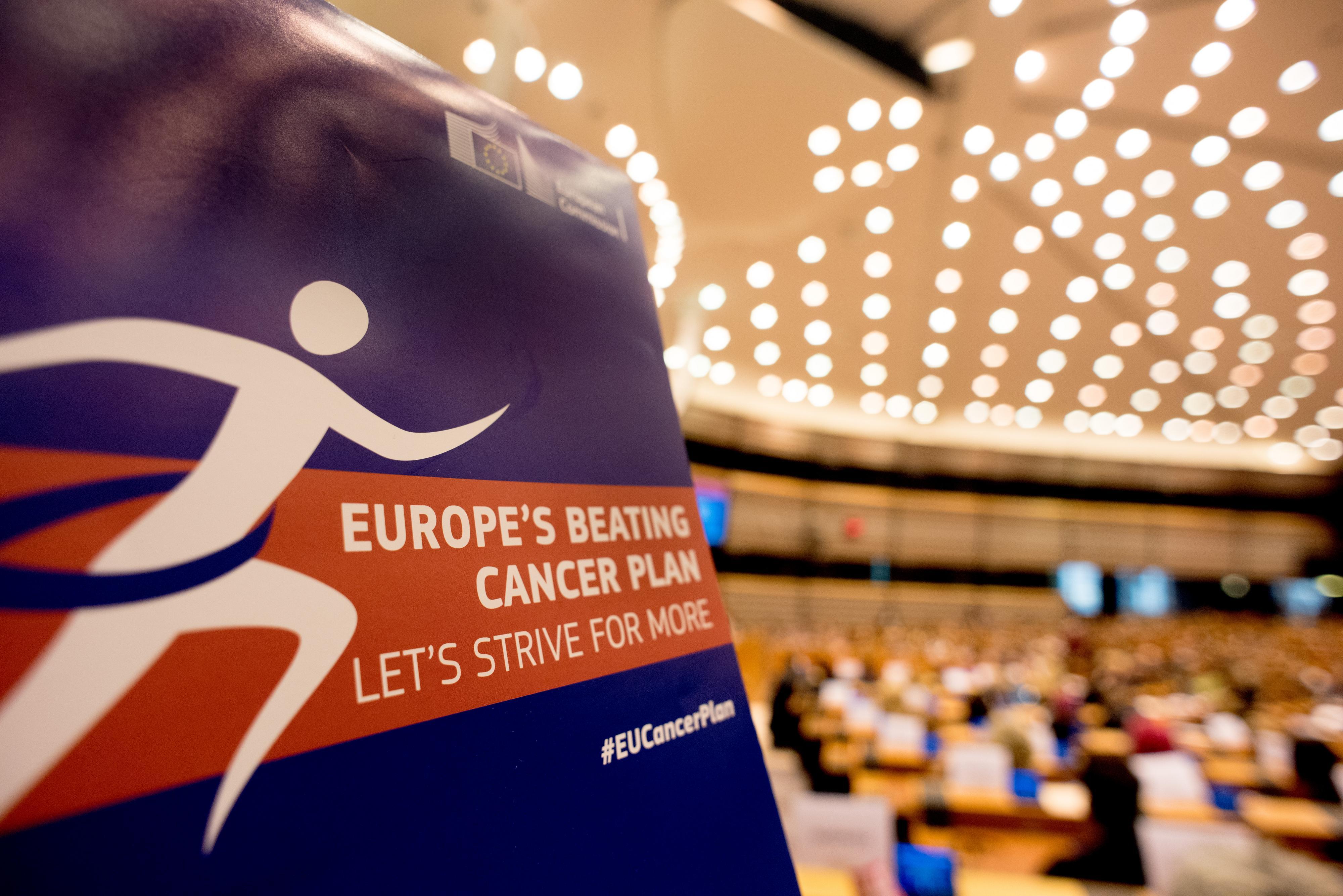 Poster: Europe's Beating Cancer Plan. Photo: European Union 2020